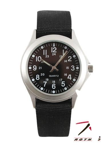 4427 Rothco Military Style Quartz Watch - Black Strap