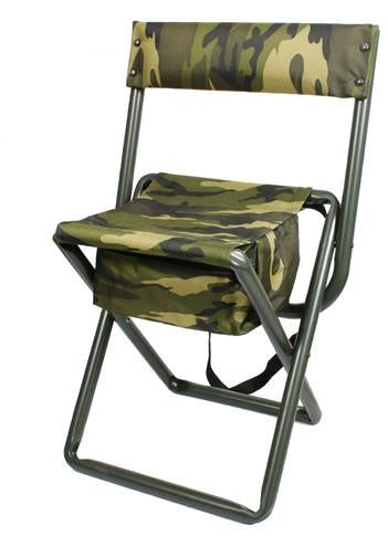 4578 DELUXE ''QUIET CAMO'' FOLDING CHAIR WITH POUCH