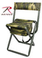 4578 Rothco Deluxe Folding Chair With Pouch, Woodland Camo
