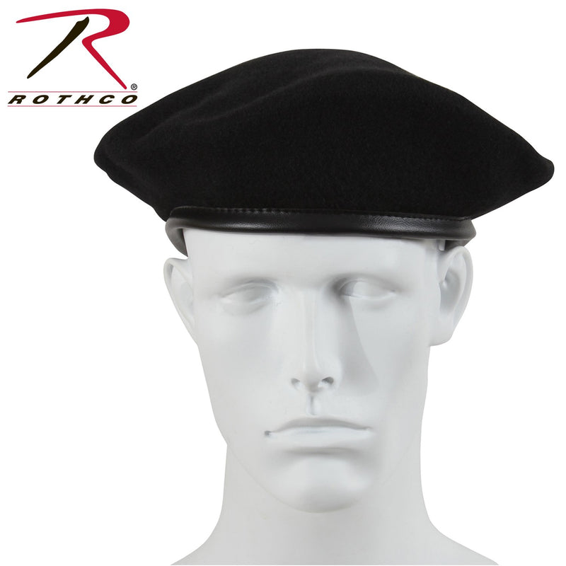 4907 Rothco Ultra Force G.I. Style Wool Black Beret - Black