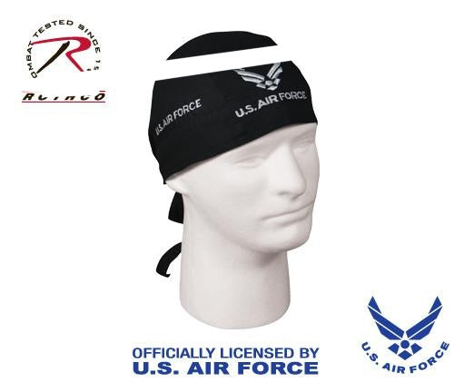 5174 ROTHCO HEADWRAP / US AIR FORCE - BLACK