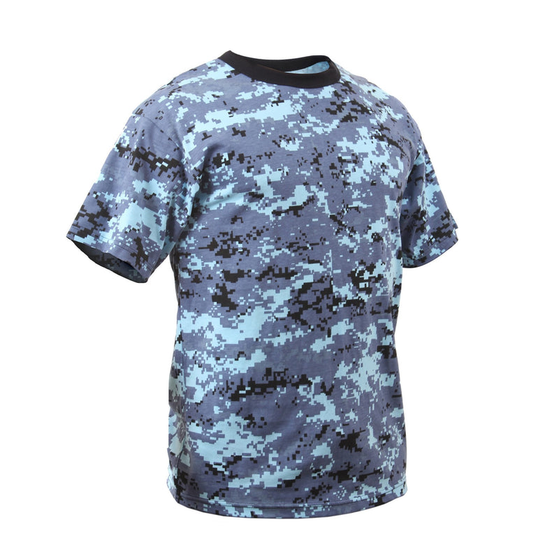 Rothco Kids Digital Sky Blue Camo T-Shirt