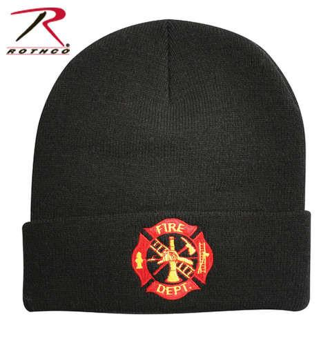 5356 Rothco Black Fire Dept. Embroidered Watch Cap