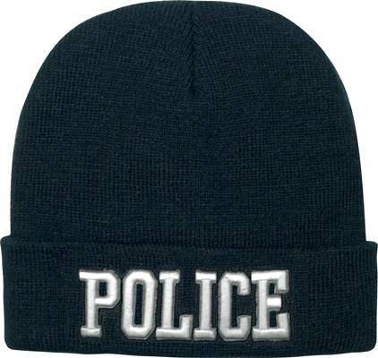 5449 Rothco Deluxe Black Police Embroidered Watch Cap