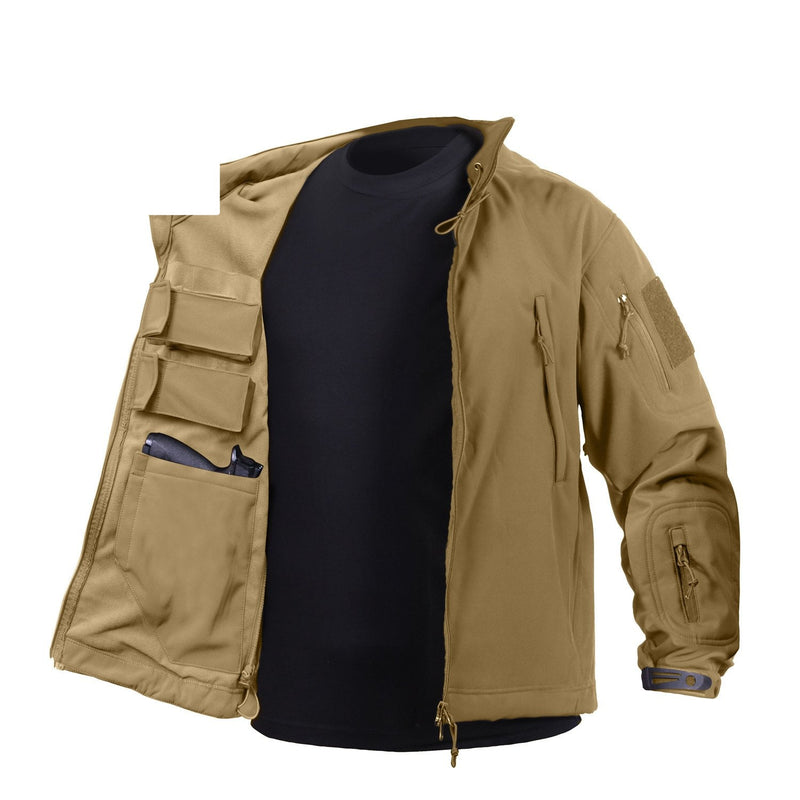 55485 Rothco Concealed Carry Soft Shell Jacket - Coyote Brown