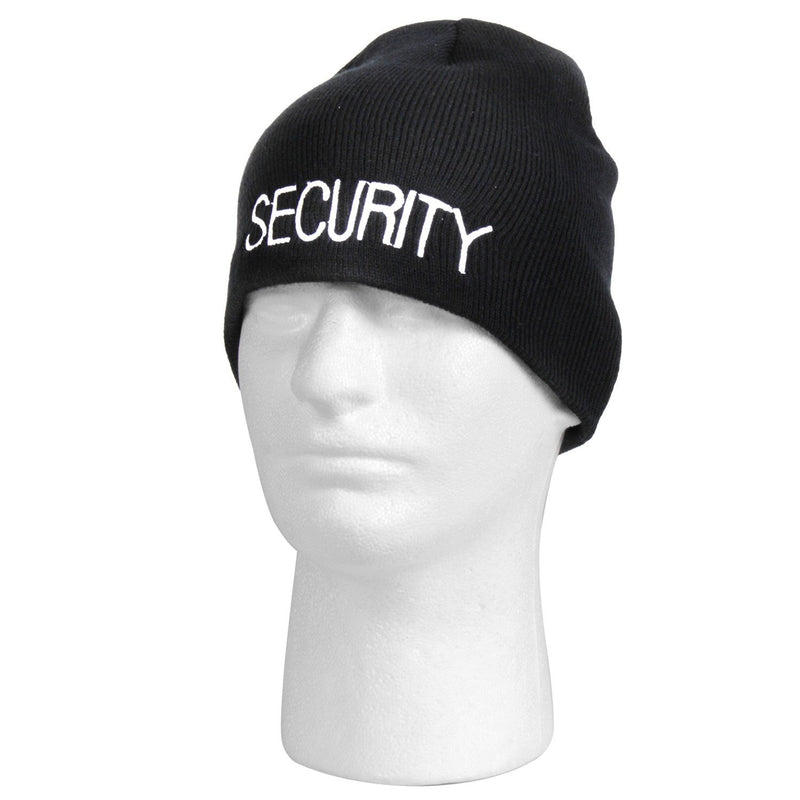 56560 Rothco Embroidered Security Acrylic Skull Cap - Black