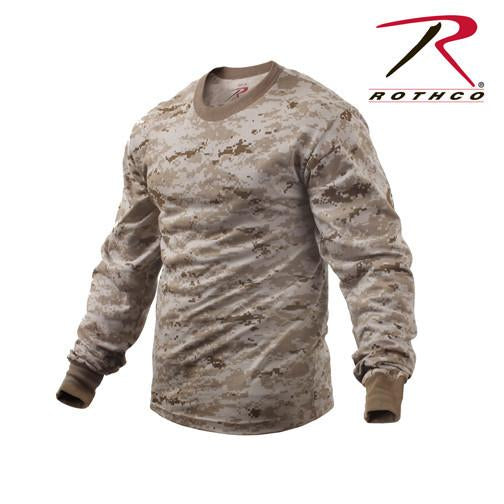 5742 Rothco Long Sleeve T-shirt / Desert Digital