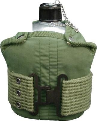 589 ROTHCO ALUMINUM CANTEEN AND PISTOL BELT KIT - OLIVE DRAB