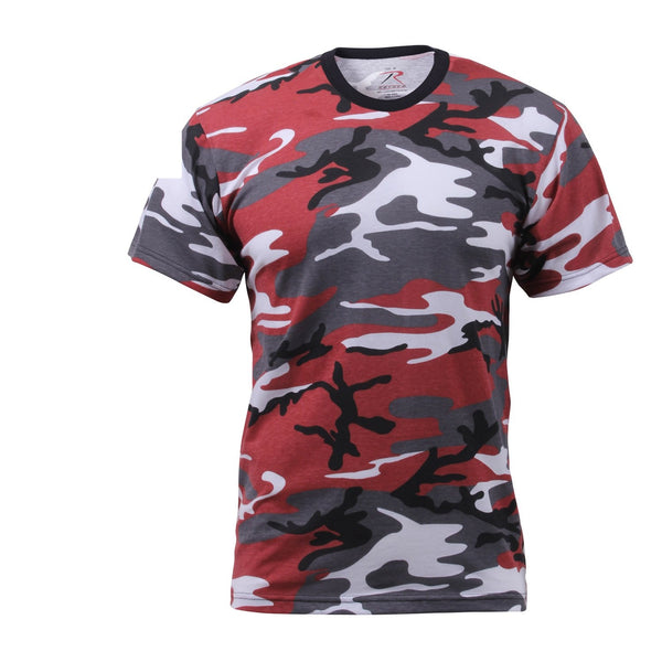 6006 Rothco Colored Camo T-Shirts - Red Camo
