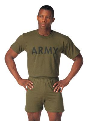 60136 Rothco Olive Drab Military Physical Training T-Shirt - Army