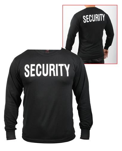 60222 Rothco 2-sided Long Sleeve T-shirt / Security - Black