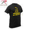 61060 Rothco Don't Tread On Me Gadsden Black Vintage T-Shirt