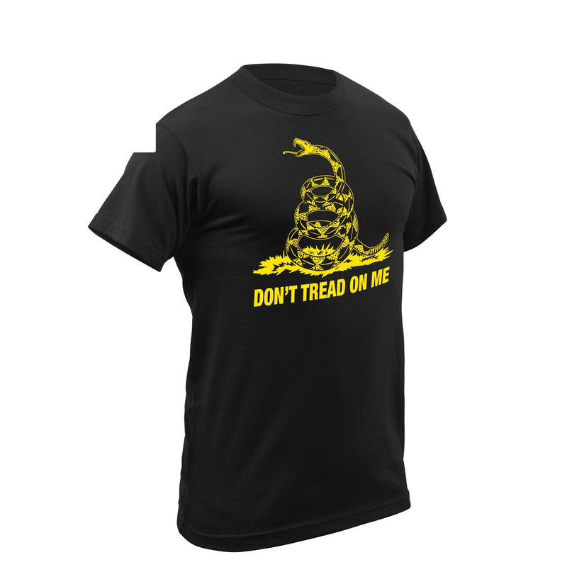 Rothco Don't Tread On Me Black Vintage T-Shirt