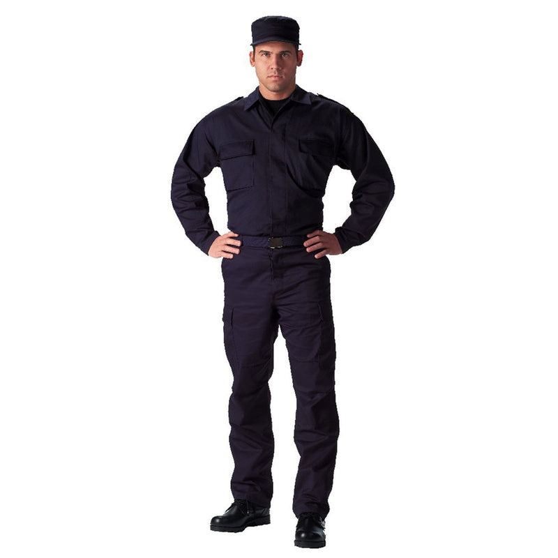 6110 Rothco Ultra Forcetm 2-pocket Navy Blue Tactical B.D.U. Shirt