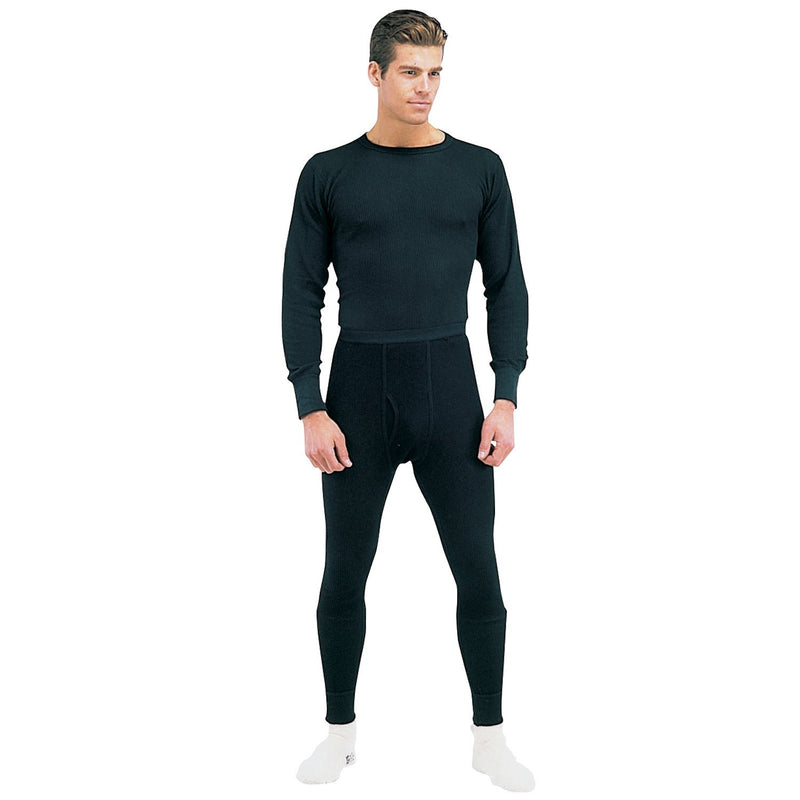 63642 Rothco Thermal Knit Underwear Bottoms - Black
