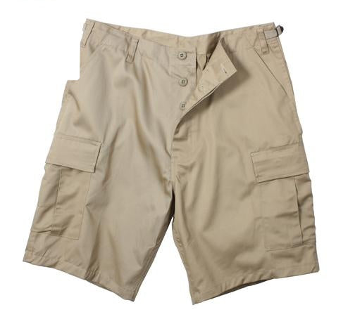 65203 Khaki Poly/Cotton BDU Shorts