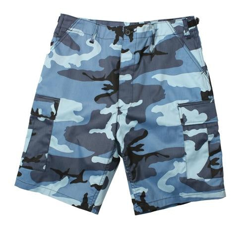 65218 Sky Blue Camo Poly/Cotton BDU Shorts