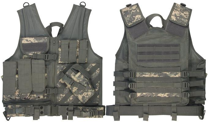 6598 Rothco Army Digital Camo Cross Draw Tactical Vest