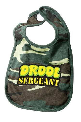 66048 ROTHCO INFANT BIB / DROOL SERGEANT - WOODLAND CAMO