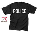 6612 Rothco 2-sided T-shirt / Police - Black