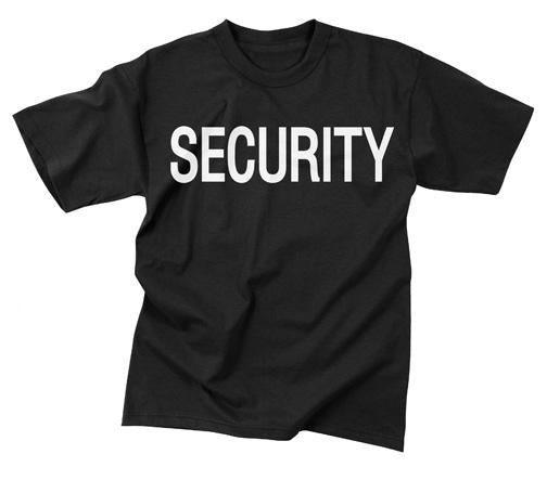 6616 Rothco 2-sided T-shirt / Security - Black