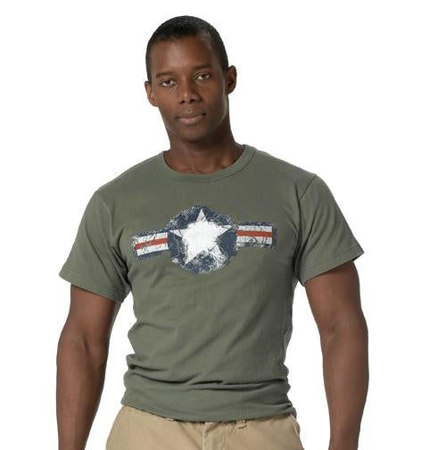 66300 Rothco Vintage Army Air Corp T-shirt - Olive Drab