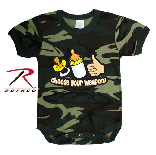 67077 Rothco Infant One-piece / Choose Your Weapon - Woodland Camo