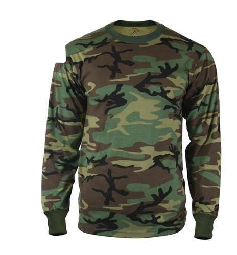 6778 Rothco Long Sleeve Camo T-Shirt - Woodland Camo