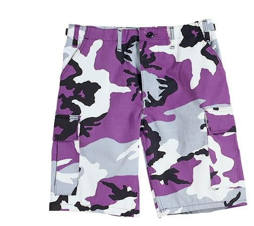 7100 Ultra Violet Camo Poly/Cotton BDU Shorts