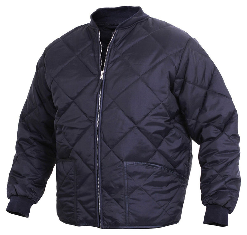 7160 Rothco Diamond Quilted Flight Jackets - Navy Blue