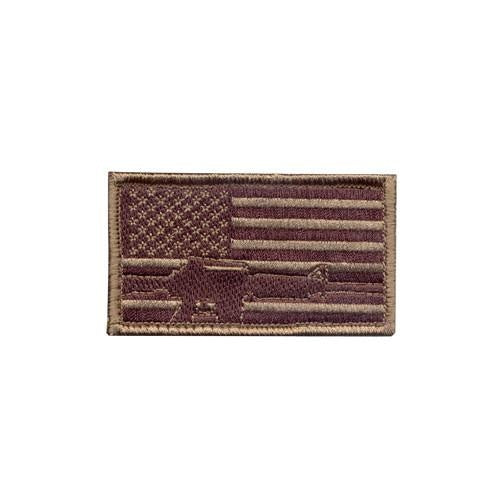 72204 Rothco Subdued Flag / Rifle Patch - Hook Backing