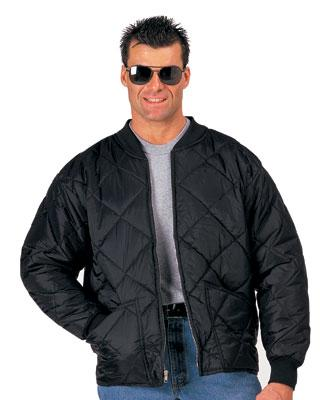 7230 Rothco Black Diamond Quilted Flight Jacket