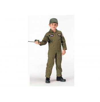 7302 Rothco Kid's Flight Coverall With Patches - Olive Drab
