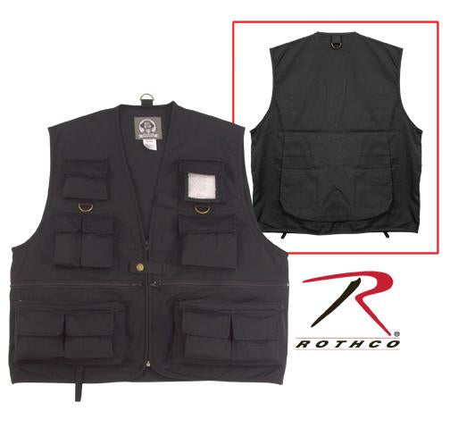 7531 Rothco Uncle Milty Travel Vest - Black