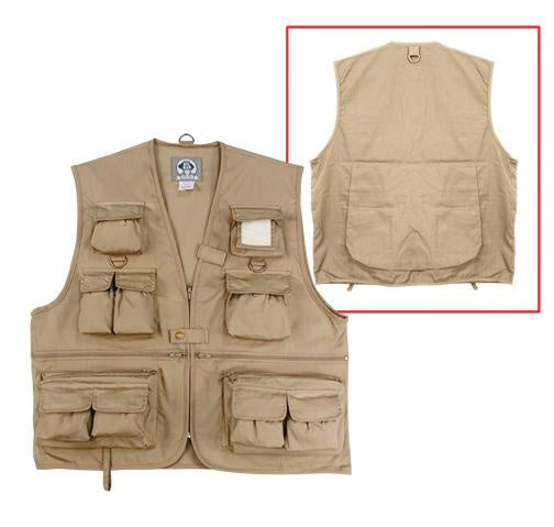 7546 Rothco Uncle Milty Travel Vest - Khaki