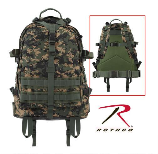 7687 Rothco Large Transport Pack - Woodland Digital