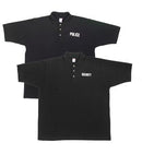 7698 Rothco Black Law Enforcement Printed Golf Shirts
