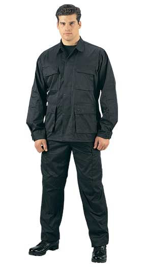7971 Rothco Tactical BDU Pants - Black