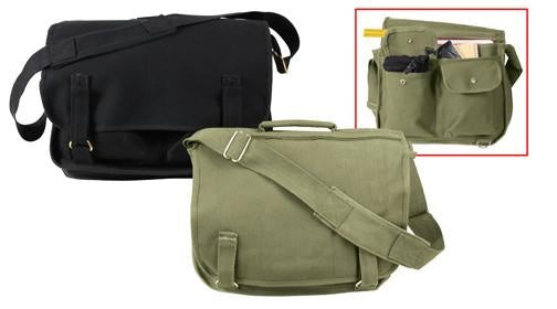8118 ROTHCO CANVAS EUROPEAN SCHOOL BAG