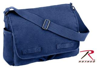 8159 Rothco Heavyweight Canvas Classic Messenger Bag - Blue