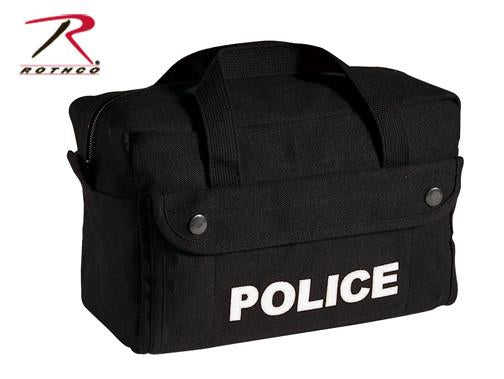 8185 Rothco Canvas Small Police Logo Gear Bag - Black