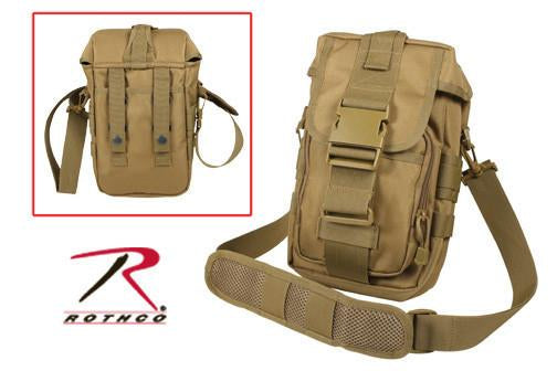 8319 Rothco Flexipack Molle Tactical Shoulder Bag - Coyote