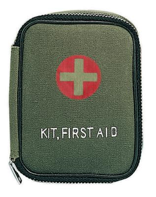 8325 Rothco Olive Drab Military Zipper First Aid Pouch