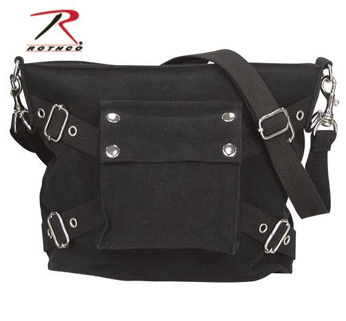 8477 Rothco Vintage Black 1-Pocket Shoulder Bag
