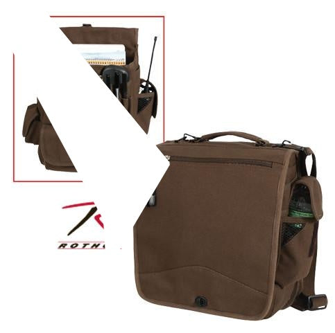 8622 ROTHCO CANVAS M-51 ENGINEERS FIELD BAG - EARTH BROWN