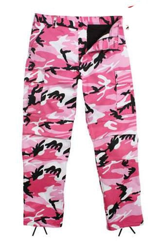 8670 Pink Camouflage Poly/Cotton BDU Pants