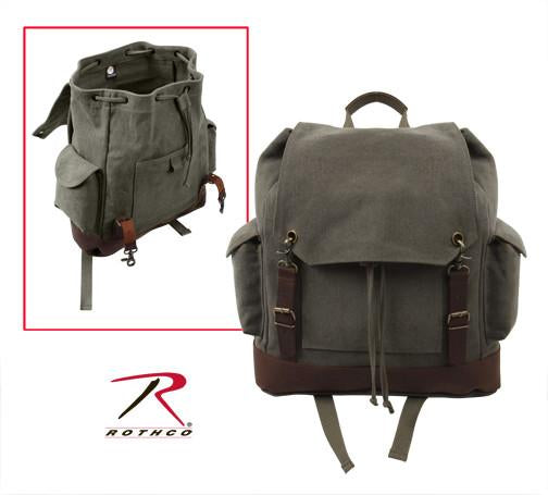 8704 Rothco Vintage Expedition Rucksack - Olive Drab
