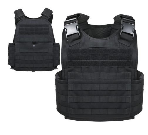 8922 Rothco Molle Plate Carrier Vest - Black