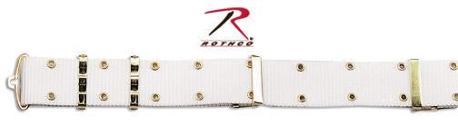 9059 Rothco GI Style Pistol Belt With Metal Buckles - White