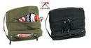 9126 Rothco Dual Compartment Travel Kit Bag-Olive Drab, Black